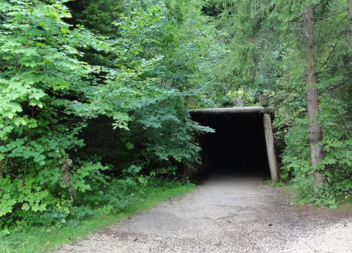 asphalt mine entrance