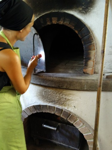 inside the oven