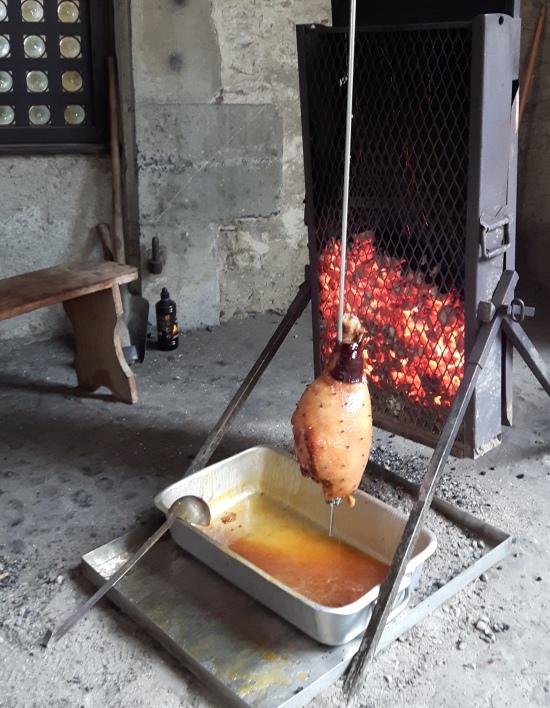 chateau de chillon - ham cooking